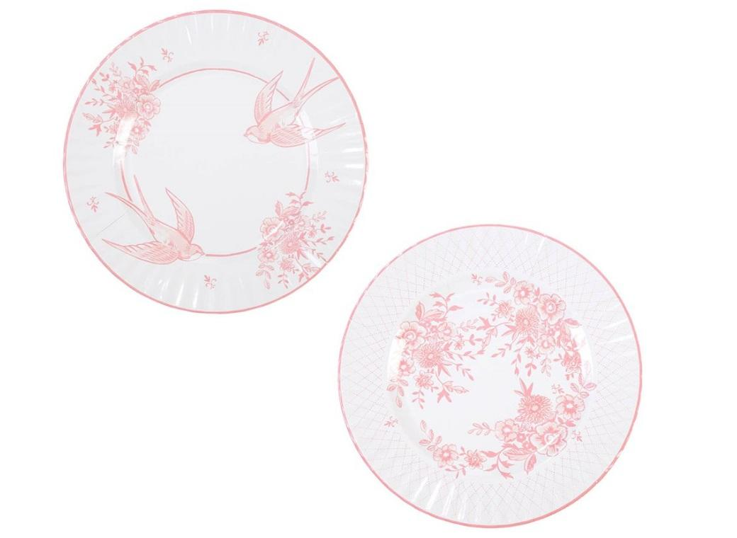 Party Porcelain Rose Large Plates 8pk
