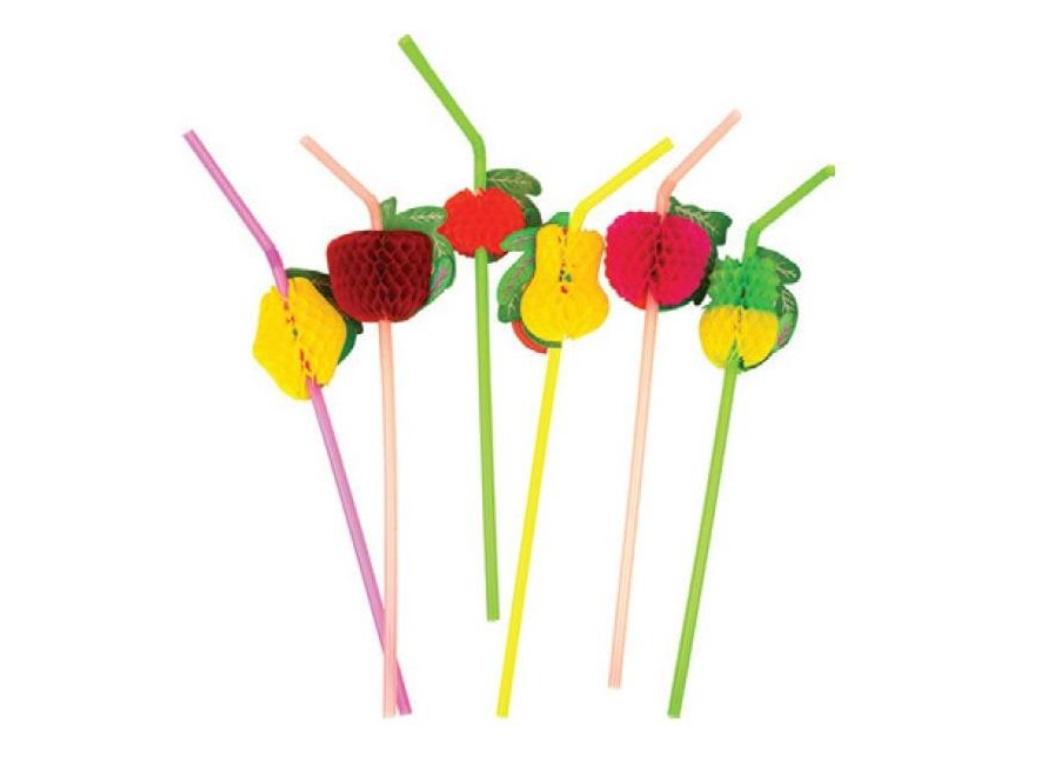 Party Straws - Honeycomb Fruit