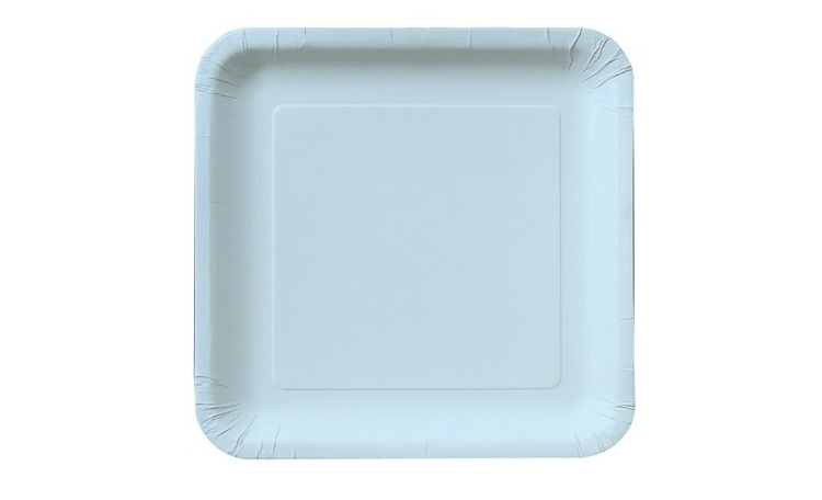 Lunch Plate Square - Pastel Blue 12pk