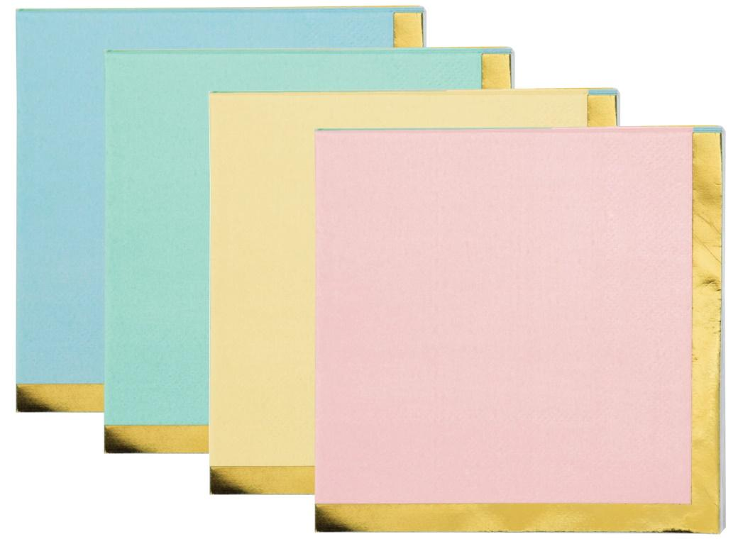 Pastel Celebrations Beverage Napkins 16pk