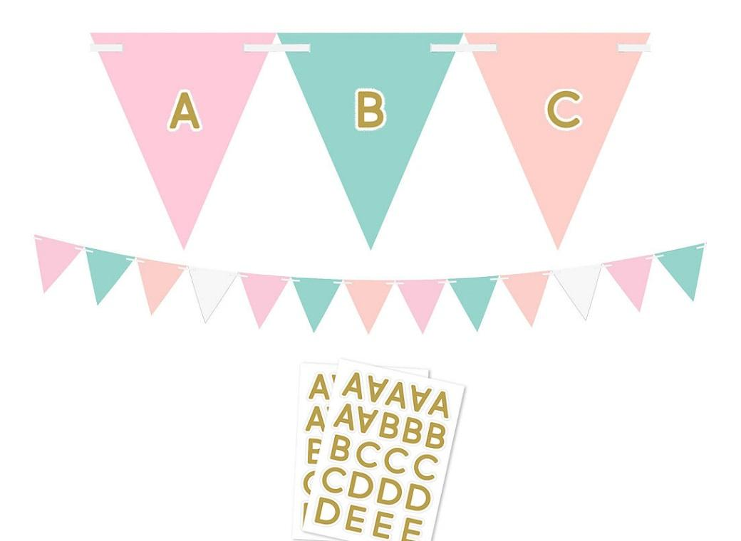 Pastel & Gold Custom Bunting Kit