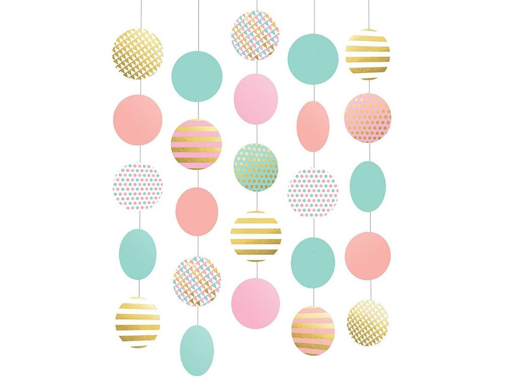 Pastel & Gold Hanging String Decorations