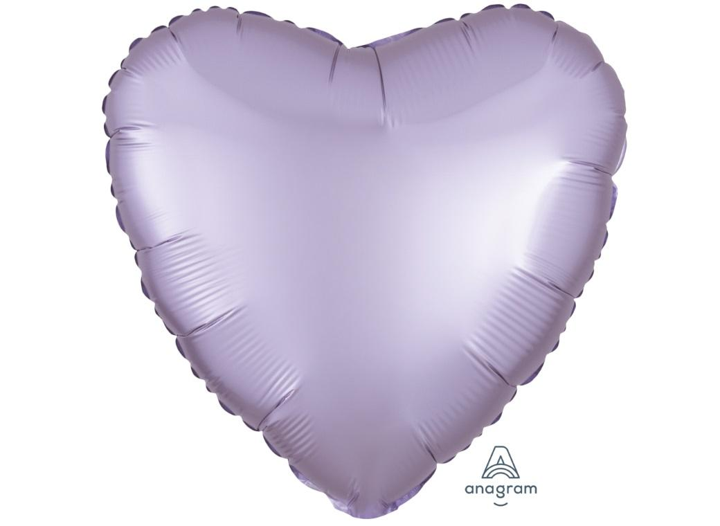 Heart Shaped Foil Balloon - Satin Luxe Pastel Lilac