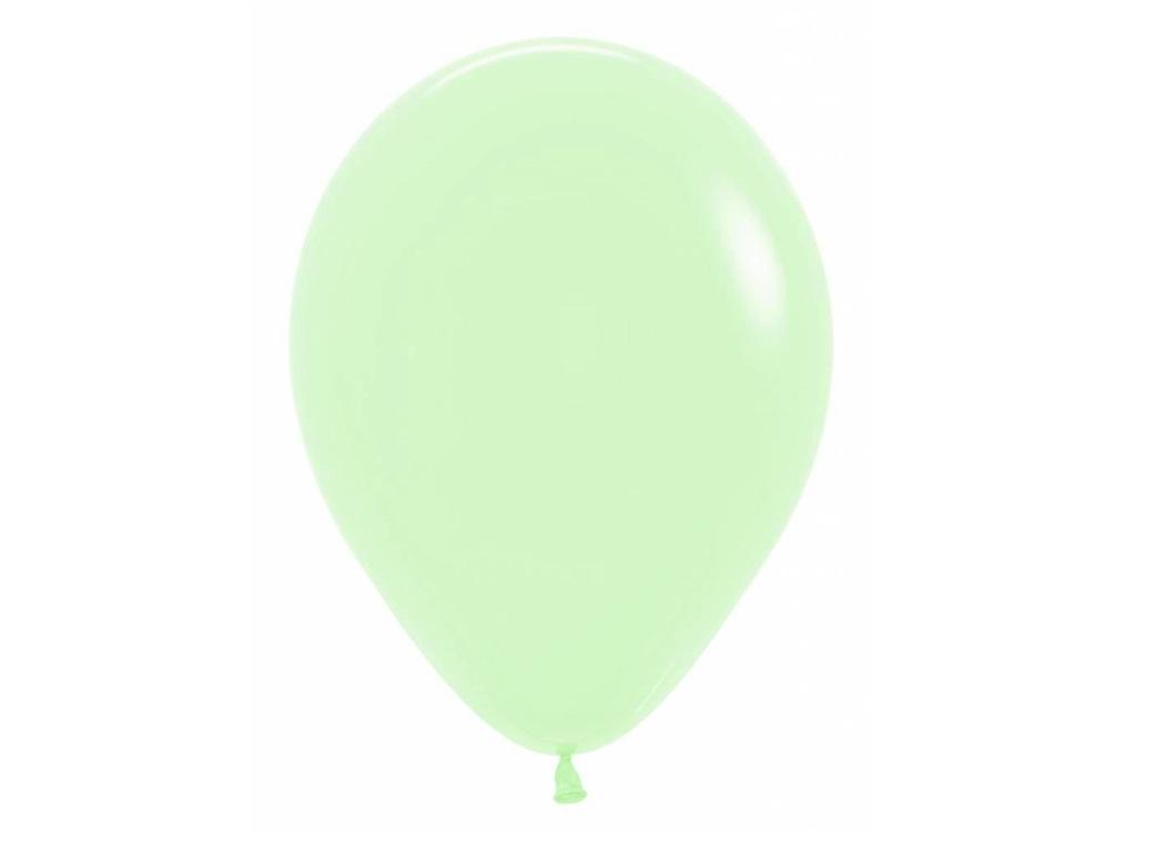 Pastel Matte Green Balloon - Single