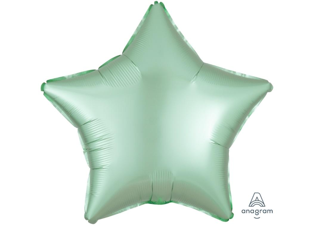 Star Shaped Foil Balloon - Satin Luxe Pastel Mint