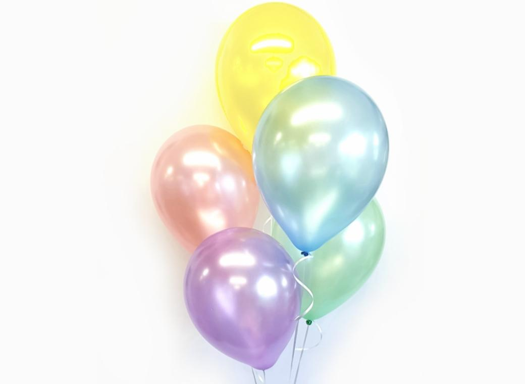 Plain Balloon Mix - Pastel Pearl