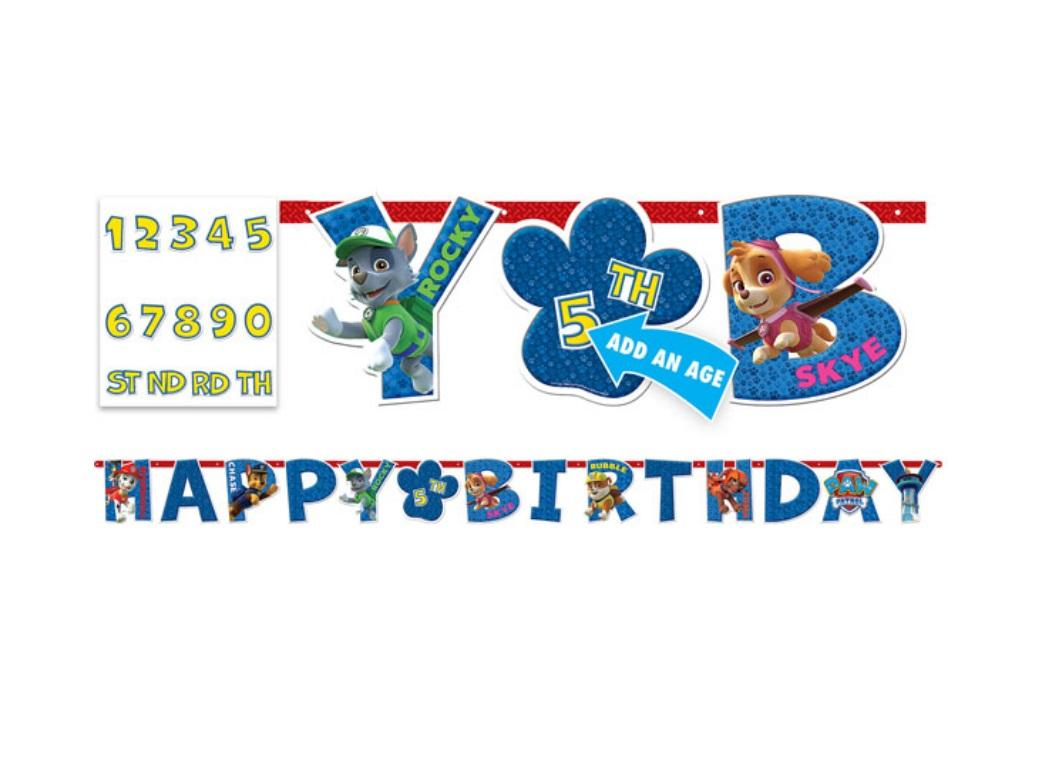 Paw Patrol Add An Age Banner