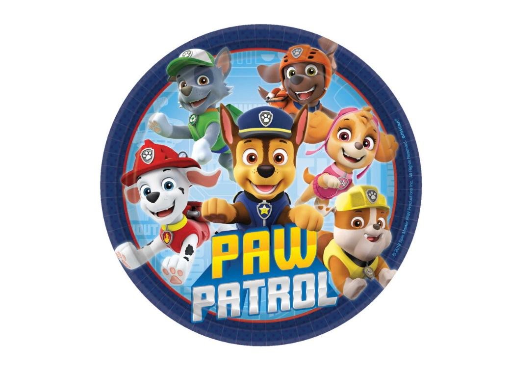 Paw Patrol Adventures Lunch Plates 8pk