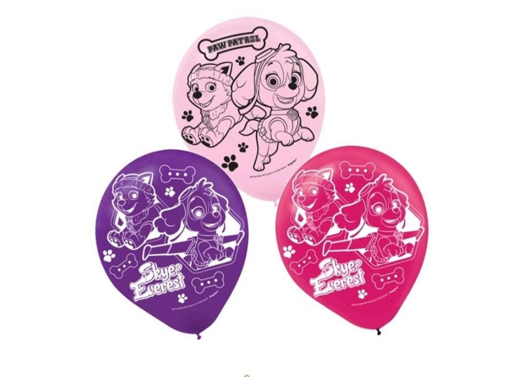 Pink Paw Patrol Balloons - 6pk
