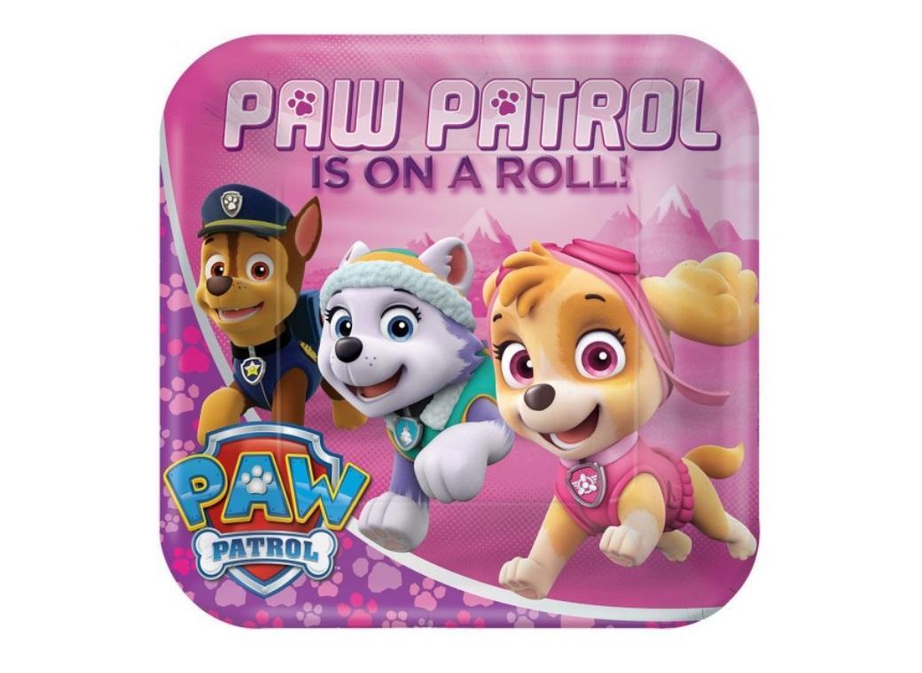 Pink Paw Patrol Dinner Plates