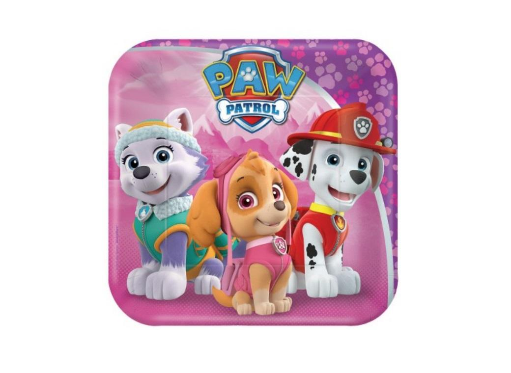 Pink Paw Patrol Lunch Plates