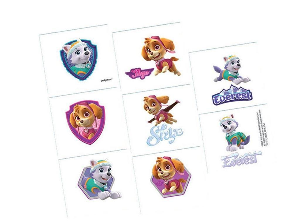 Pink Paw Patrol Temporary Tattoos