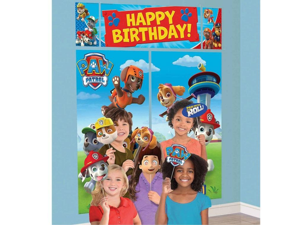 Paw Patrol Scene Setter with Photo Props