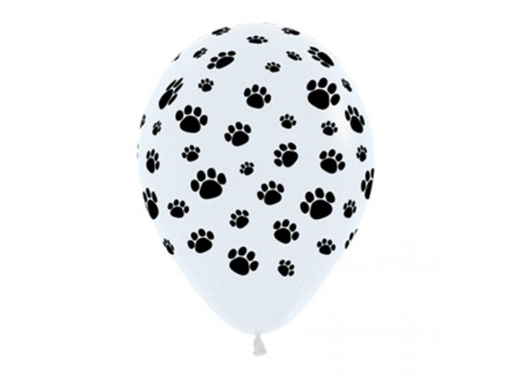 Paw Print Latex Balloons 12pk