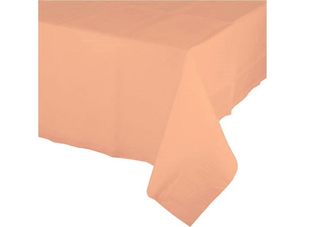 Peach Plastic Table Cloth