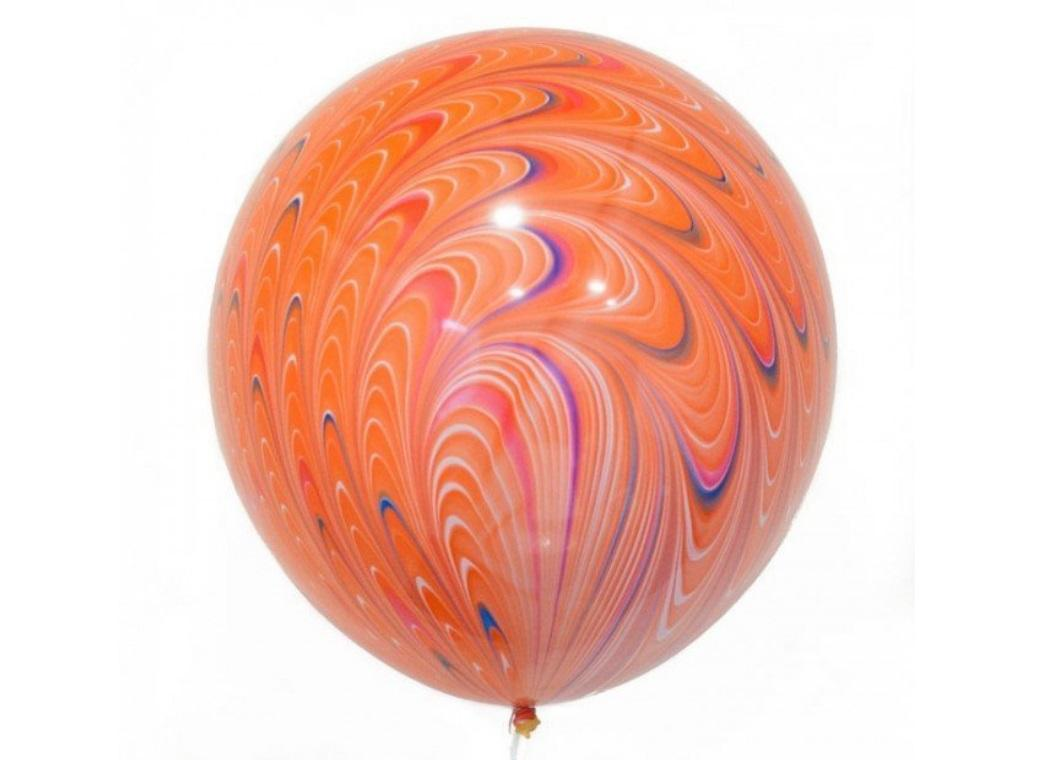 Peacock Balloon - Orange