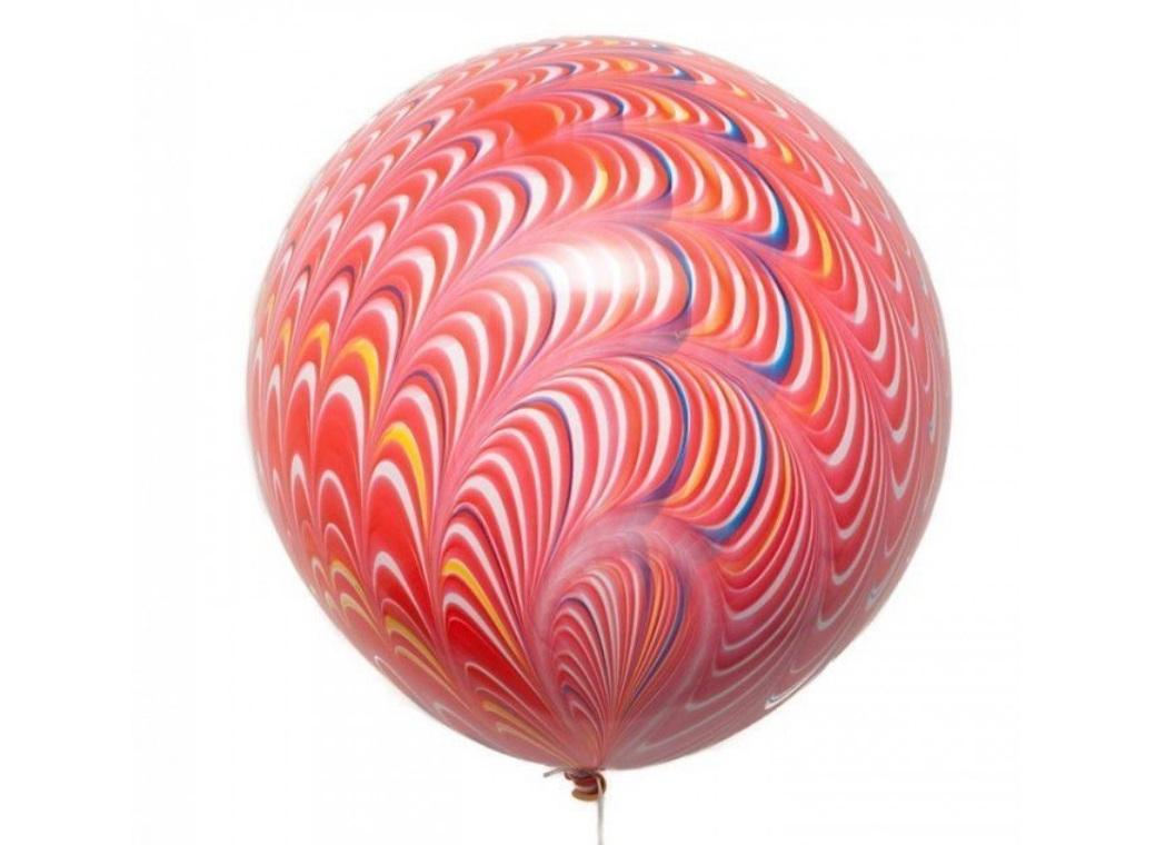 Peacock Balloon - Red