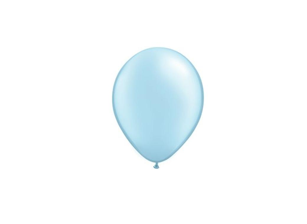 Pearl Light Blue Balloons 5""