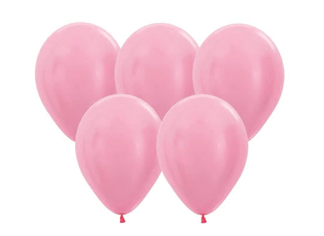 Pearl Satin Pink Balloons - 25pk