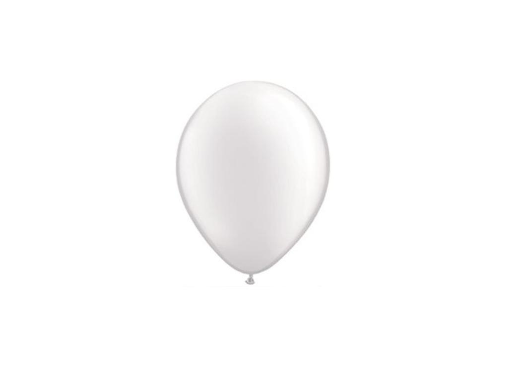 "Pearl White Balloons 5"""