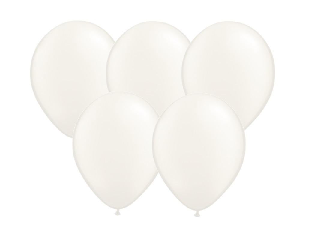 25PK Balloons - White Pearl