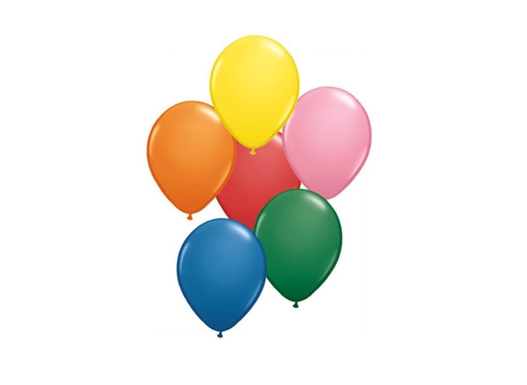 "Pearl Rainbow Balloons 5"""