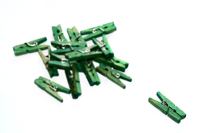 Mini Pegs - Green 24pk