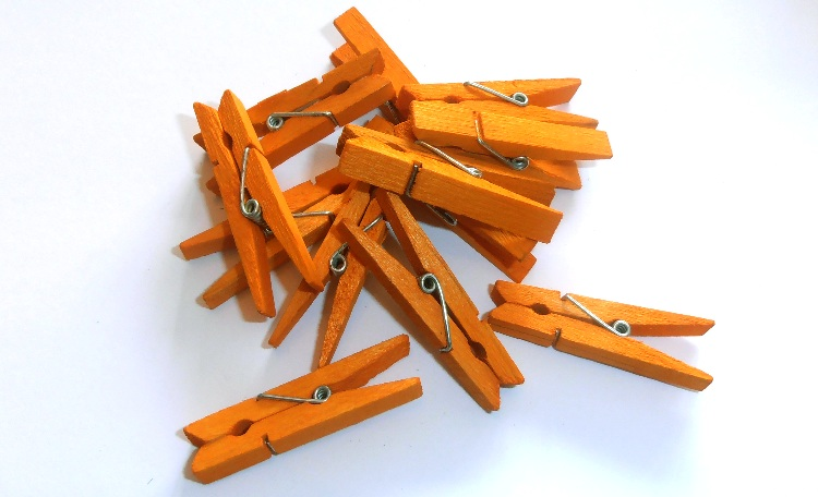 Orange Pegs - Pack of 12