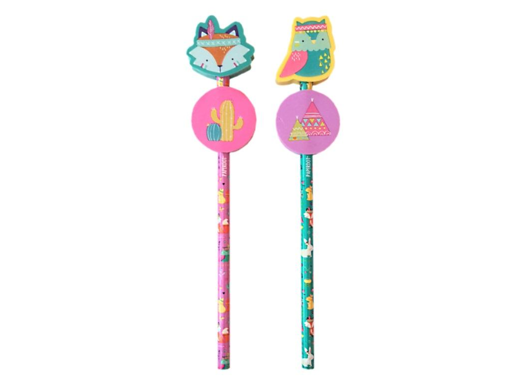 Novelty Pencils 2pk - Tribal