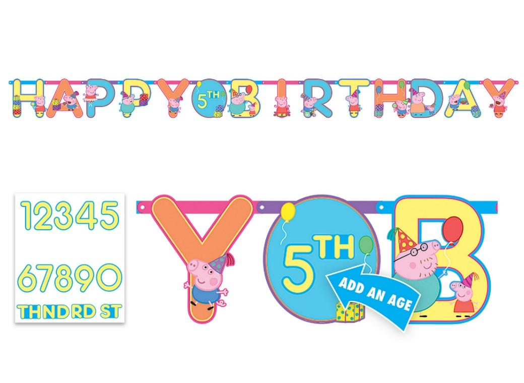 Peppa Pig Add an Age Banner