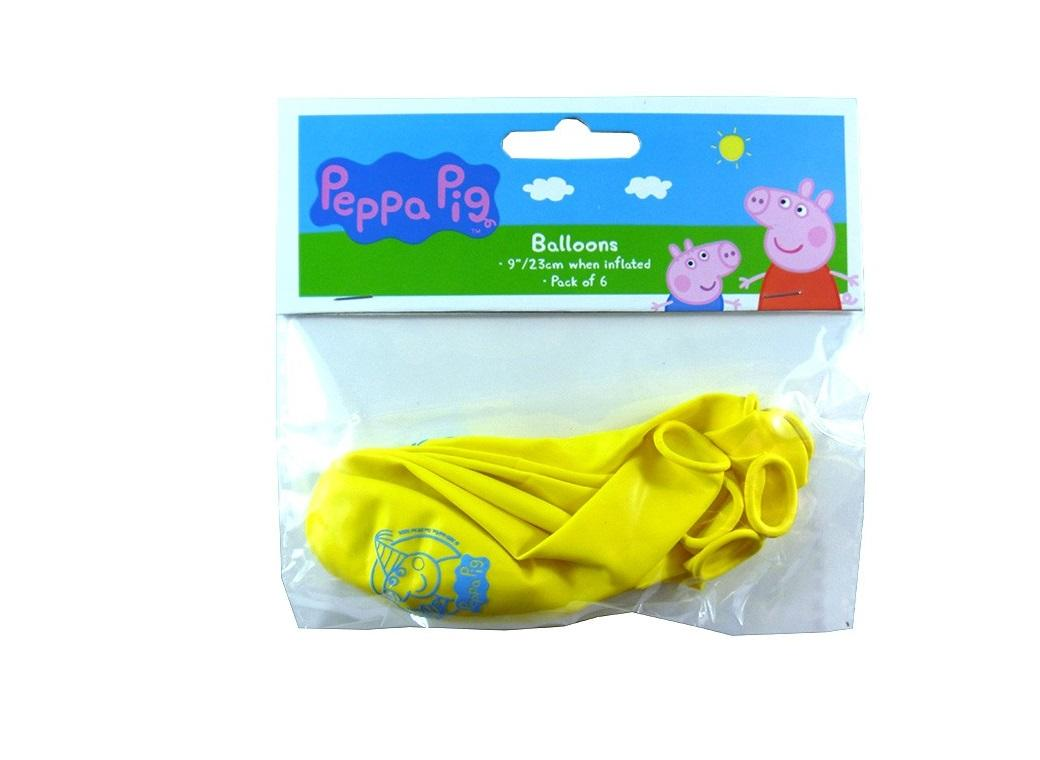 Peppa Pig Balloons Yellow 5pk
