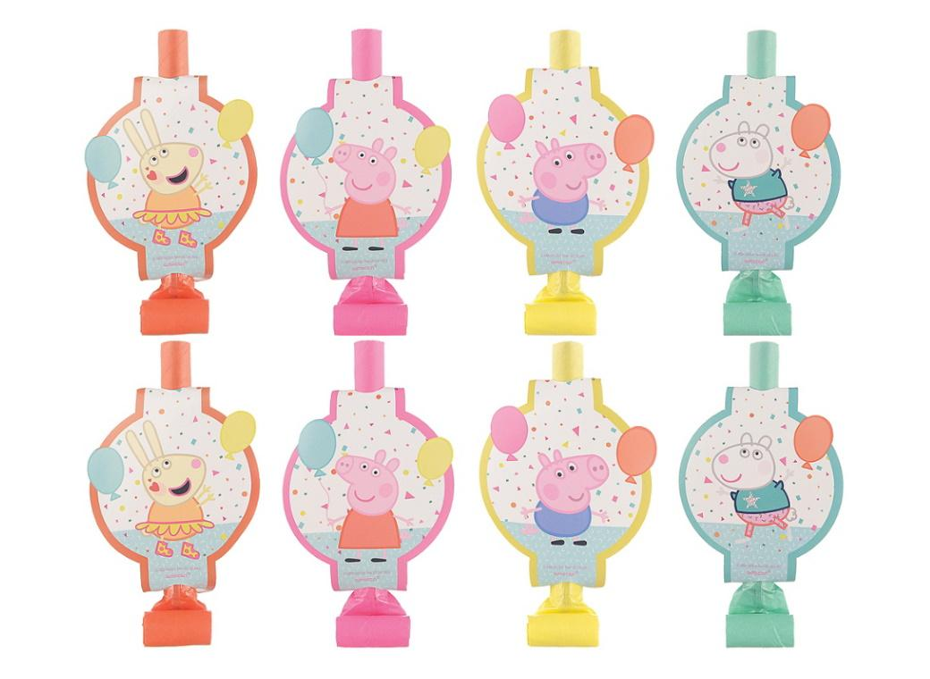 Peppa Pig Confetti Party Blowouts 8pk