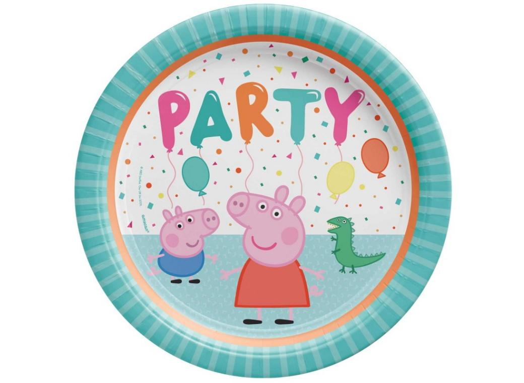 Peppa Pig Confetti Party Dinner Plates 8pk
