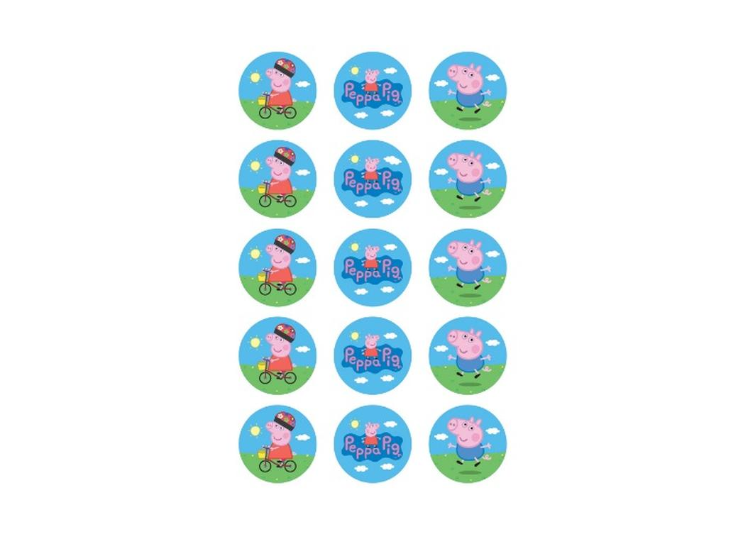 Edible Icing Cupcake Images - Peppa Pig