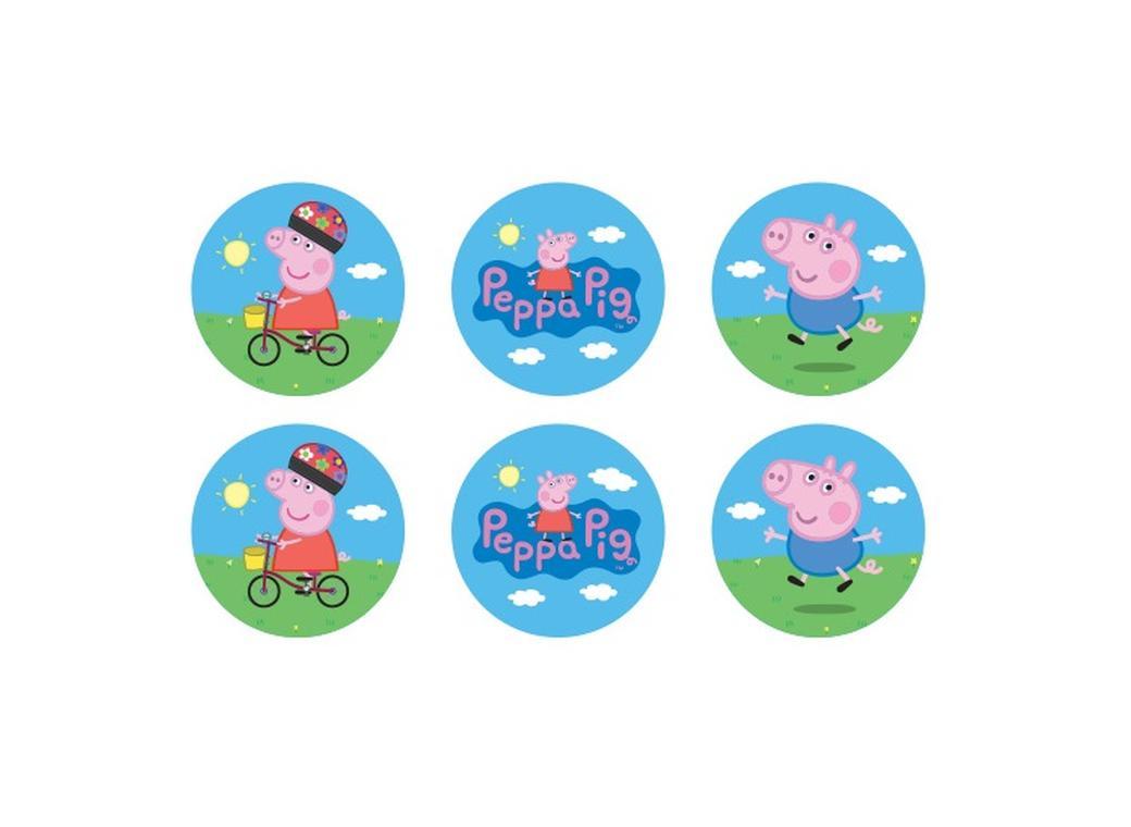 Edible Cake Images Peppa Pig : Edible Icing Cupcake Images - Peppa Pig