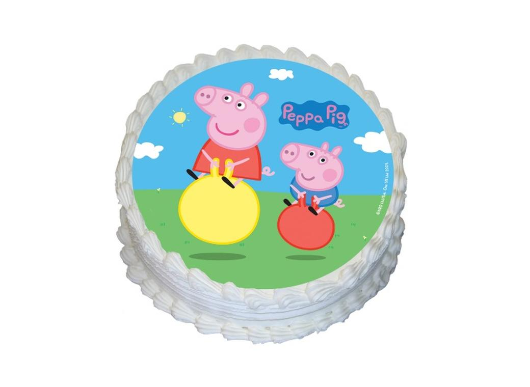 Edible Icing Image - Peppa Pig Round