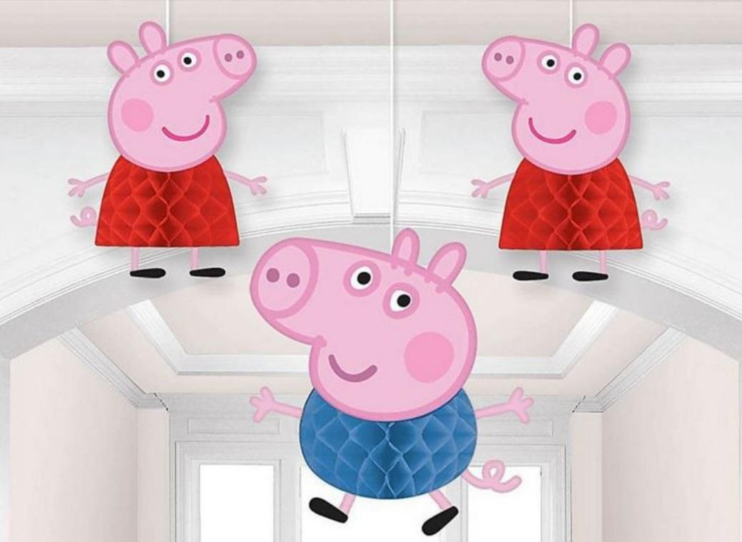 Peppa Pig Honeycomb Hanging Decorations