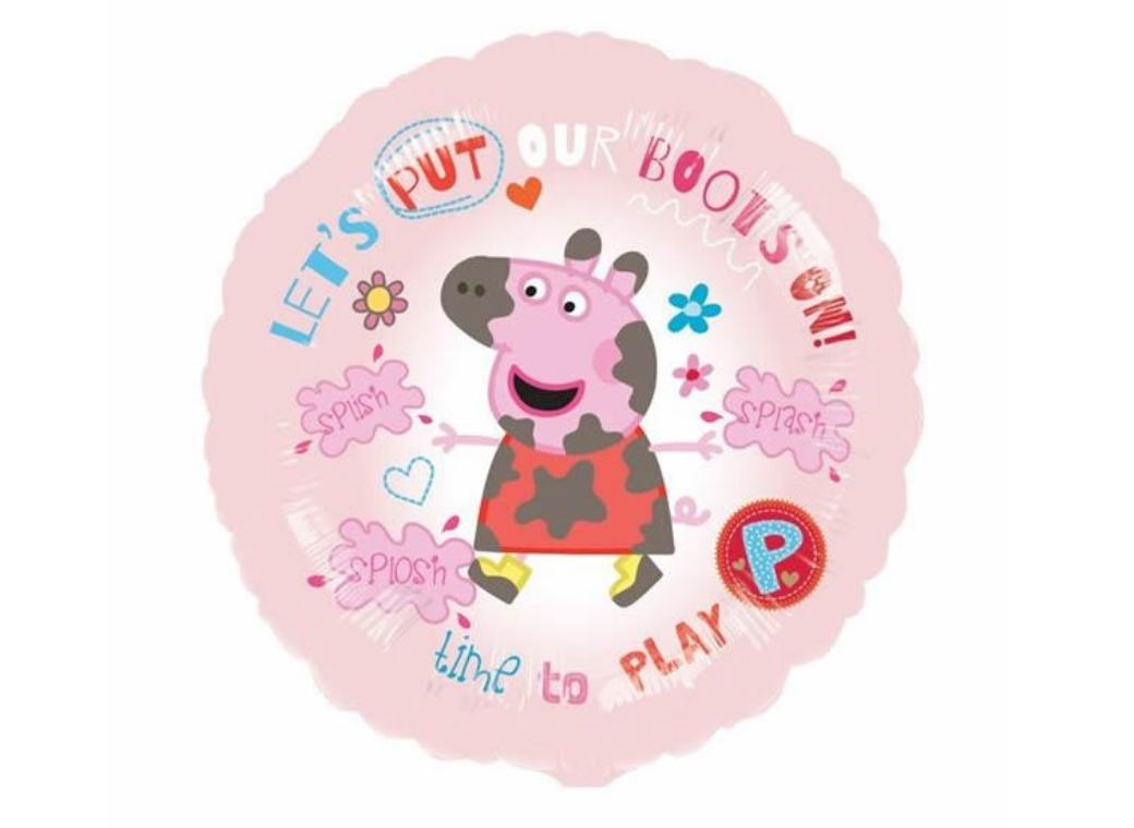 "Peppa Pig ""Let's Put Our Boots On"" Foil Balloon"