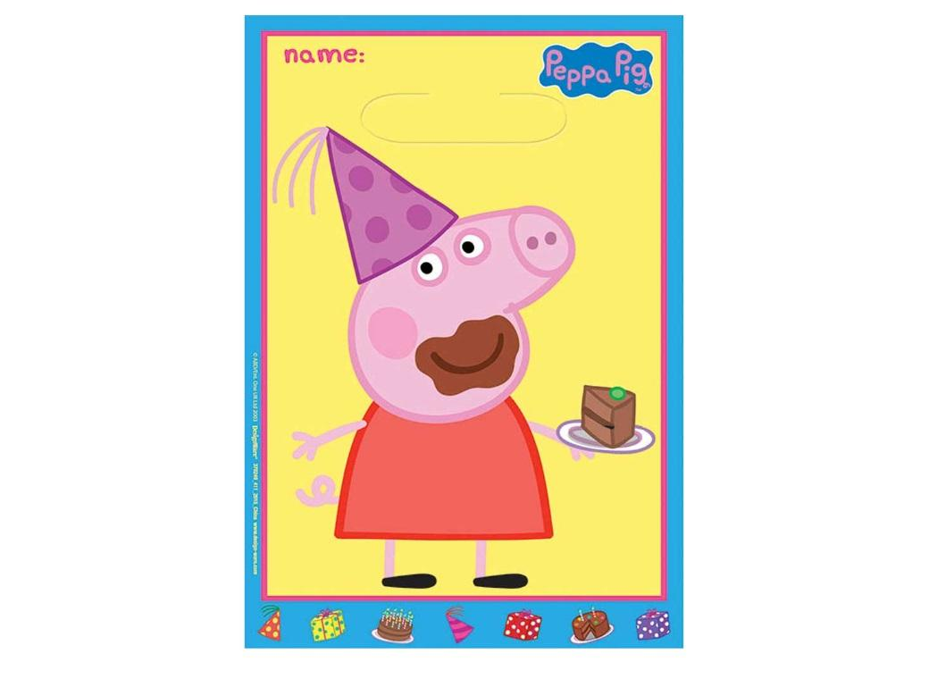 Peppa Pig Loot Bags 8pk