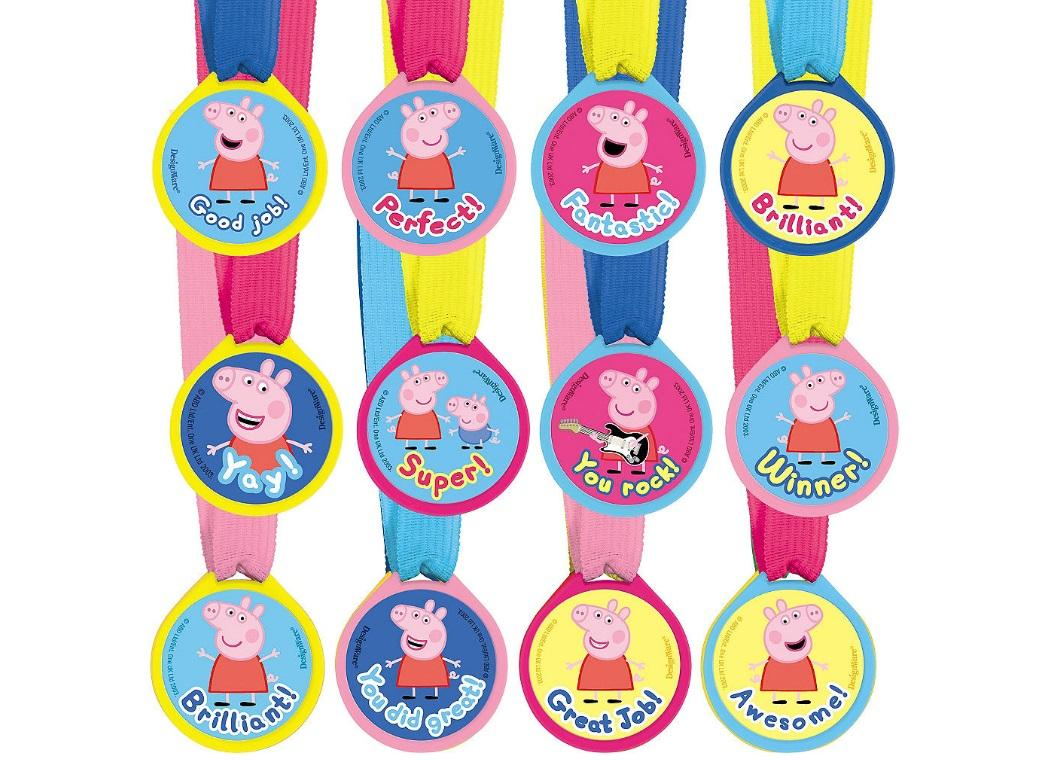Peppa Pig Mini Award Medals 12pk