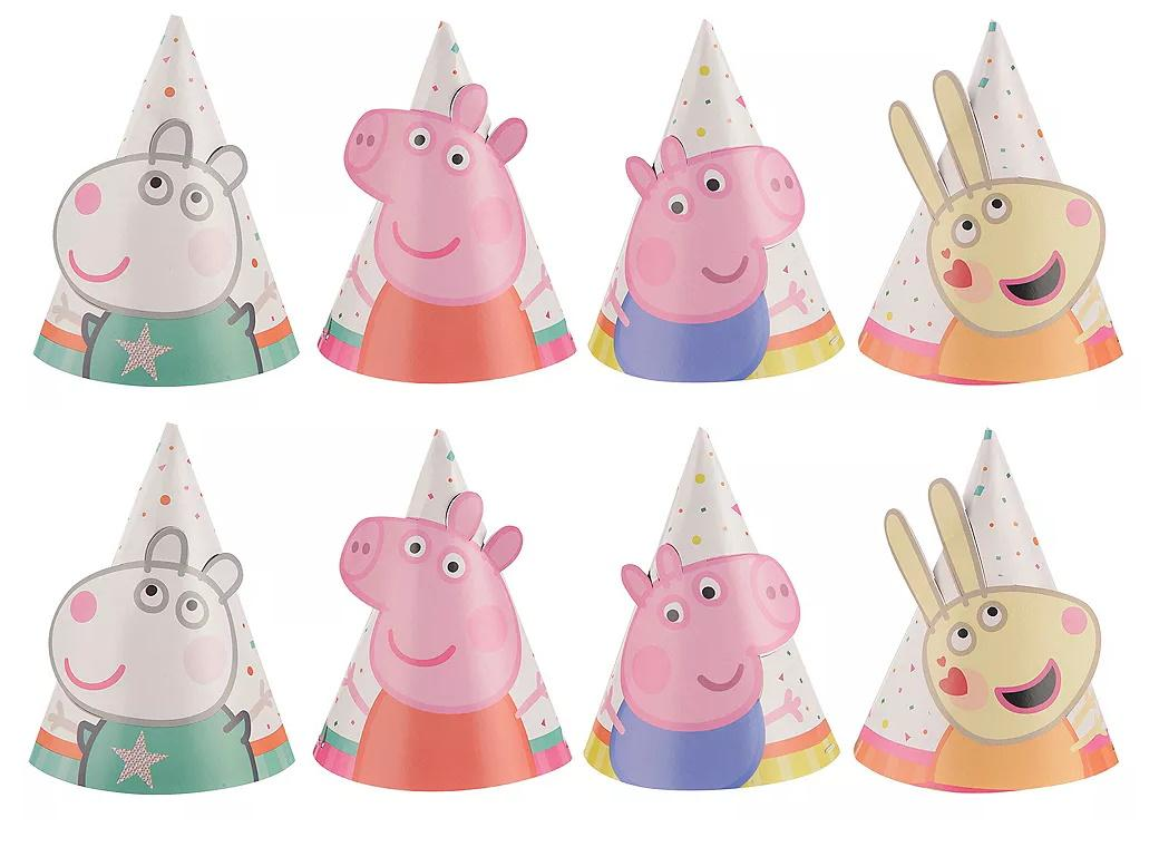Peppa Pig Mini Party Hats 8pk