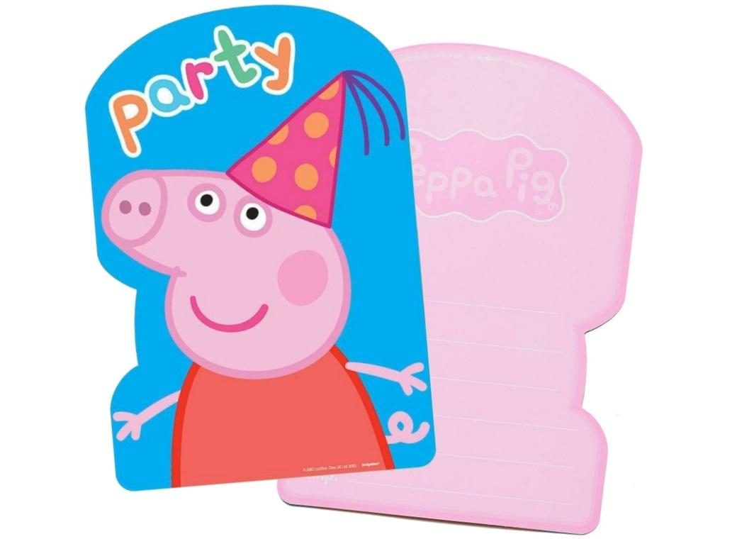 Peppa Pig Party Invites - 8pk