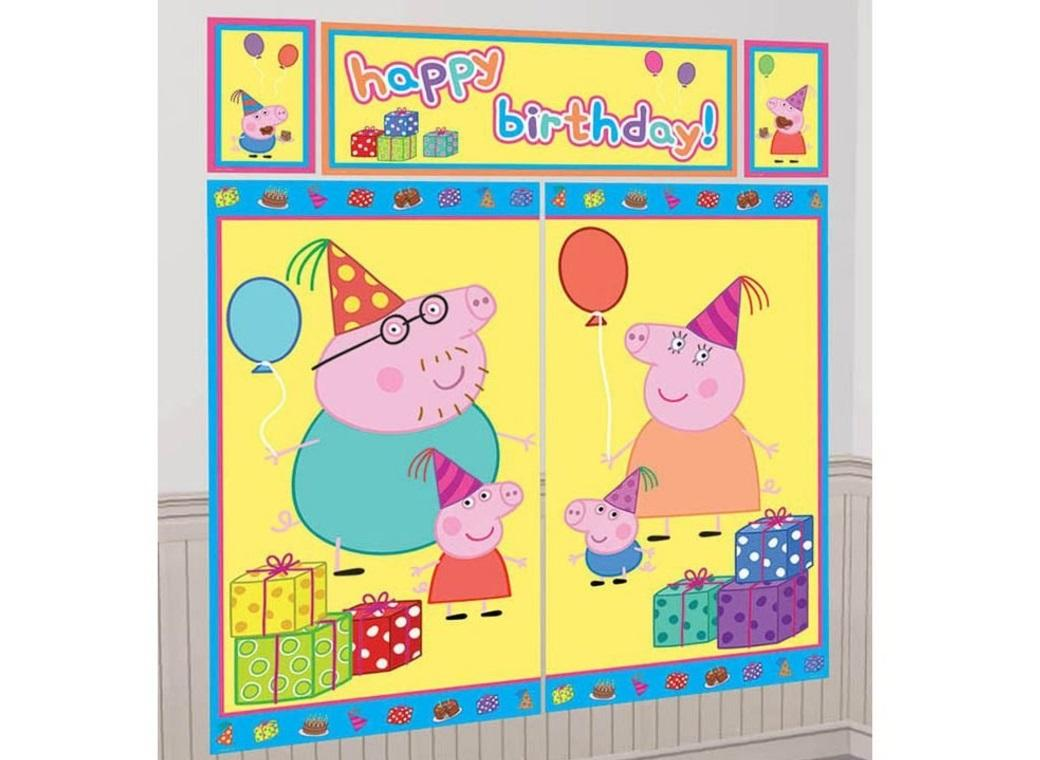 Peppa Pig Wall Decorating Kit