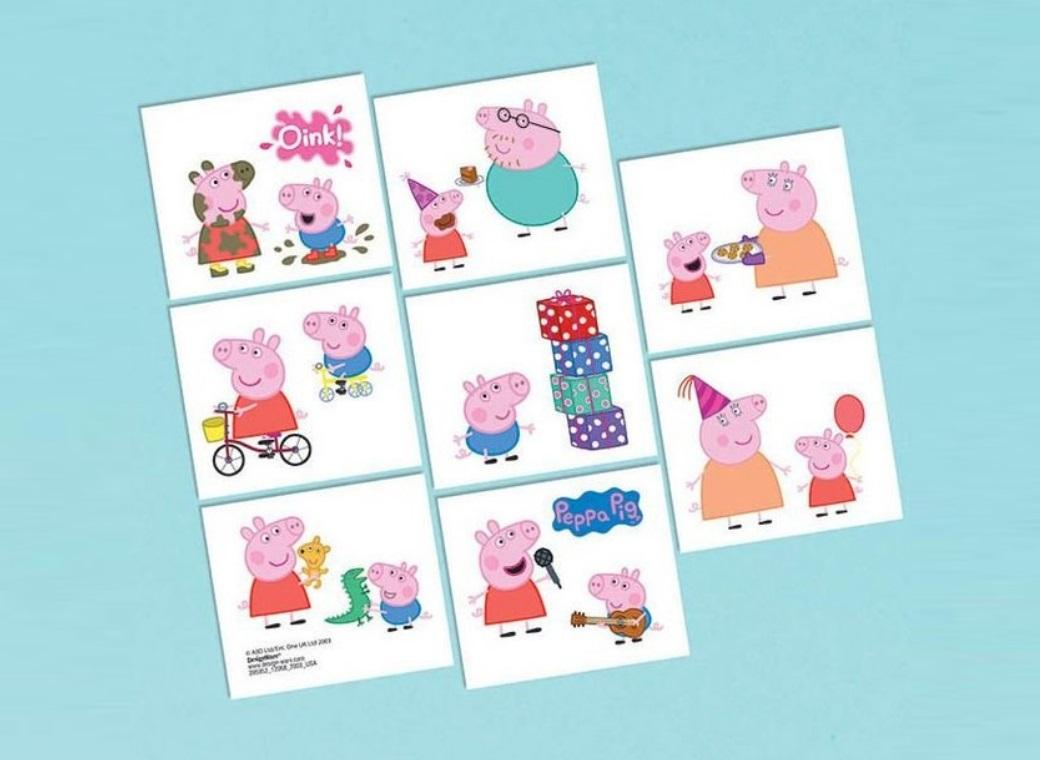Peppa Pig Temporary Tattoos