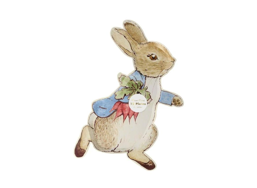 Peter Rabbit Shaped Plates