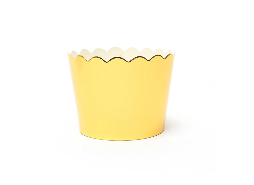 Gold Foil Baking Cups 25pk