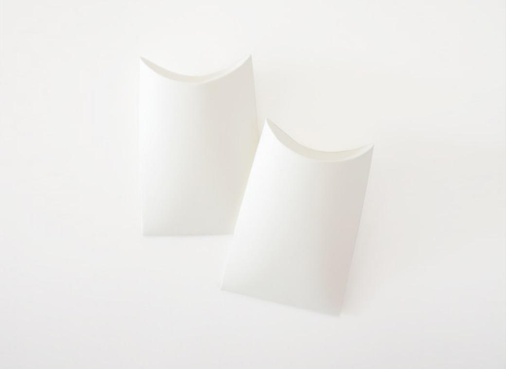 Paper Eskimo Pillow Box - Small White