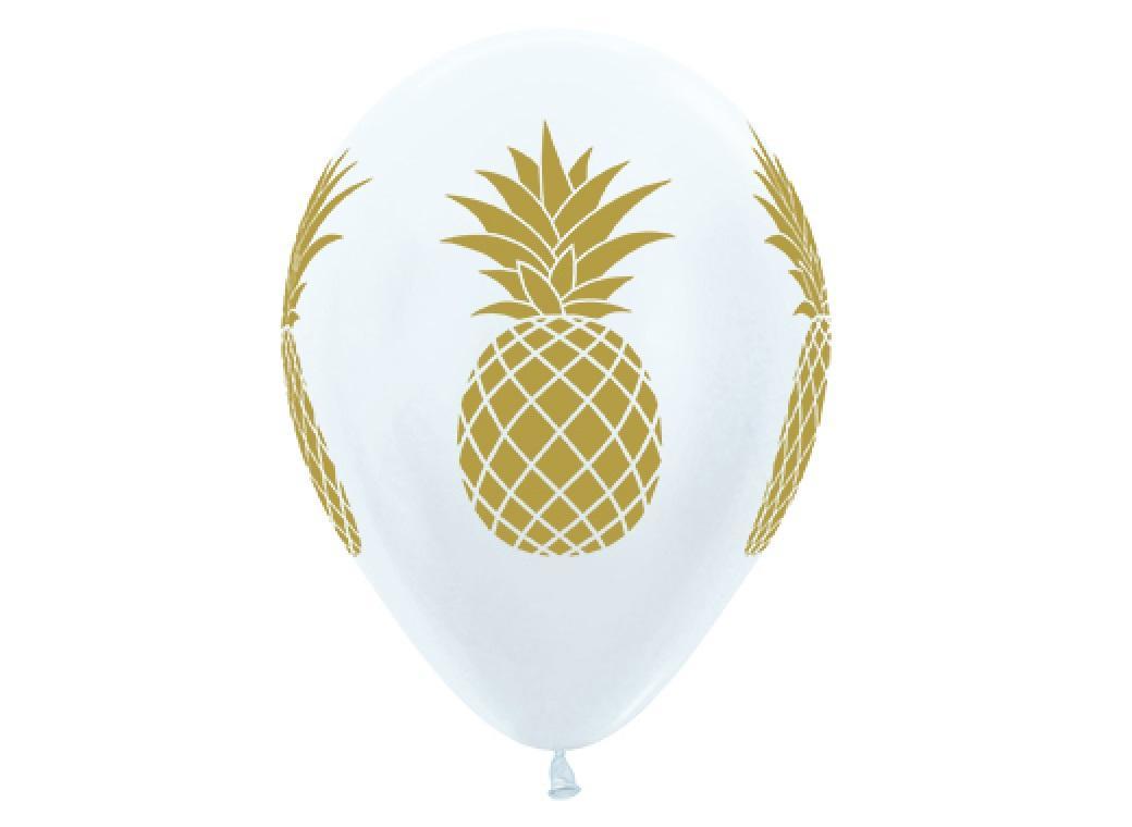 Pineapple Luxe Balloons 6pk