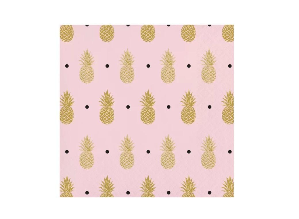 Pineapple Luxe Beverage Napkins 16pk