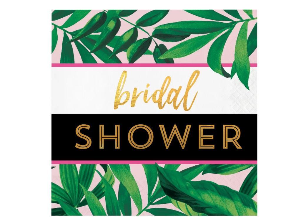 Pineapple Luxe Bridal Shower Napkins 16pk